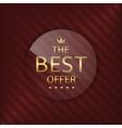 Best offer glass label vector image vector image