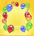birthday holiday card vector image vector image