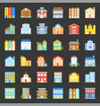 building construction flat design icon set 23 vector image