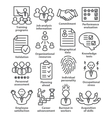 Business management icons in line style Pack 23 vector image vector image