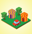 Carnival tent vector image vector image