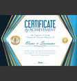 certificate or diploma retro design template 2 vector image vector image
