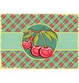 Cherries background vector image vector image