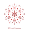 Christmas ball shape red ornament vector image vector image