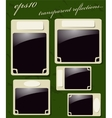 Collection of Vintage Photo Frames vector image