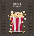 colorful poster of cinema time with film tape in vector image vector image