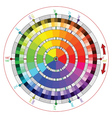 Complementary color wheel for artists vector image