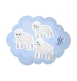 Count sheep icon in cartoon style isolated on vector image