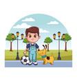 cute child cartoon vector image