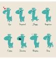 Cute deers stickers vector image vector image