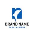 dolphin logo design vector image vector image