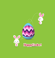 easter egg connecting bunny together vector image vector image