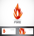 Fire or flame logo design vector image