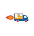 flame delivery logo icon design vector image