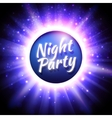 flyer template for night party vector image