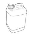 gallon plastic outline vector image vector image