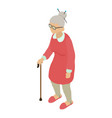 grandmother icon isometric 3d style vector image vector image