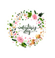Hand sketched Valentines Day text as Valentines vector image