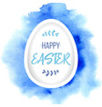 happy easter greeting paper egg with lettering on vector image vector image