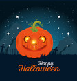 happy halloween pumpkins design vector image