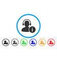 help desk rounded icon vector image vector image