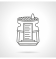 Humidifier device flat line icon vector image