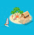 isometric summer vacation concept summer time vector image vector image
