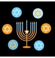 Jewish Holiday Happy Hanukkah card design vector image vector image