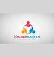 kindergarten kids logo vector image vector image