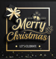 merry christmas greeting card and party vector image vector image