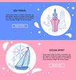 ocean spirit concept banner templates with place vector image