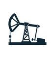 oil derrick pump flat icon pictogram vector image vector image