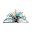 open book hand drawn sketch vector image vector image