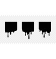 paint drip stickers square labels vector image vector image
