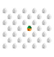 paper small houses vector image vector image