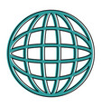 planet sphere isolated icon vector image vector image