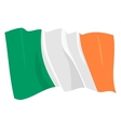 political waving flag of ireland republic vector image vector image