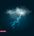 realistic rain cloud with thunderstorm lightning vector image vector image