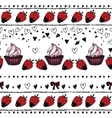 Romantic seamless pattern Valentine day Border vector image