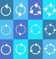 Rotating circle arrows vector image vector image
