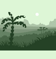 safari cartoon background desert savanna panorama vector image vector image