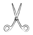 scissor utensil isolated vector image vector image