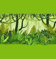 Seamless nature jungle cartoon landscape