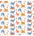 seamless pattern with cute hens color creative vector image
