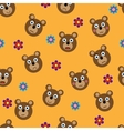 seamless pattern with funny bears vector image vector image