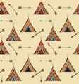seamless wigwam pattern vector image vector image
