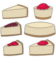 set of cheese cake vector image vector image