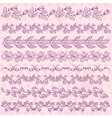 Set of Lace Paper with flower over pink background vector image vector image