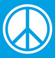 sign hippie peace icon white vector image vector image