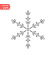 snowflake outline icon linear style sign for vector image vector image